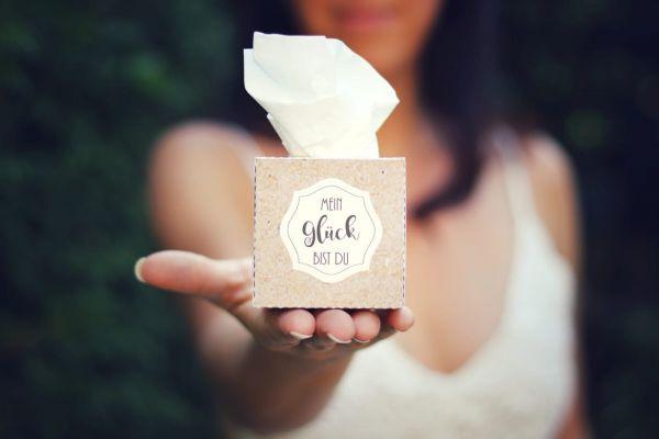 Taschentuch Box Hochzeit personalisiert