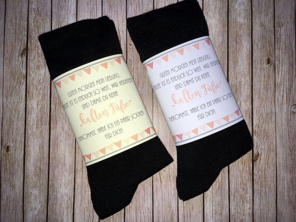 "Bräutigam Socken gegen ""kalte Füsse"" Wedding Socks"