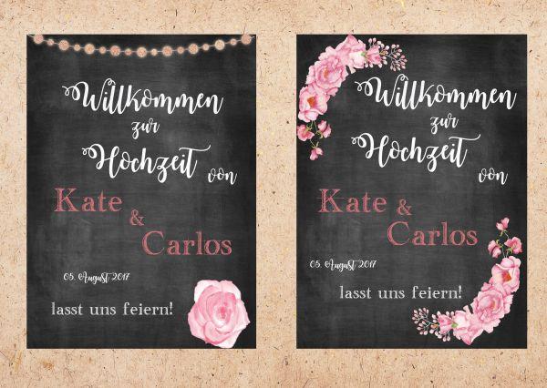 """PDF Datei """"Willkommen"""" chalkboard"""