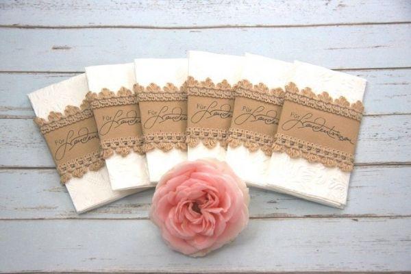 Für Freudentränen Taschentücher Spitze, Vintage