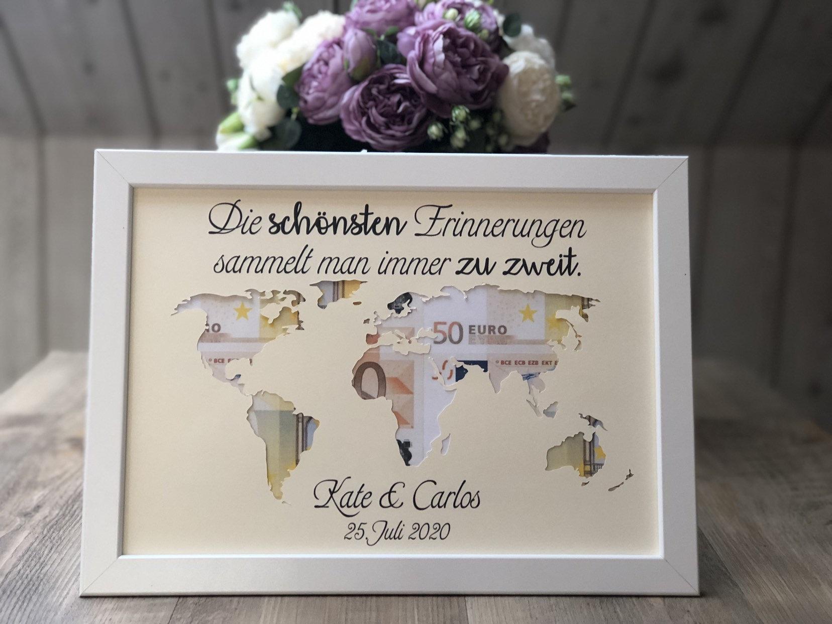 Geldgeschenk Hochzeit Weltkarte Ohne Rahmen Vintageladchen
