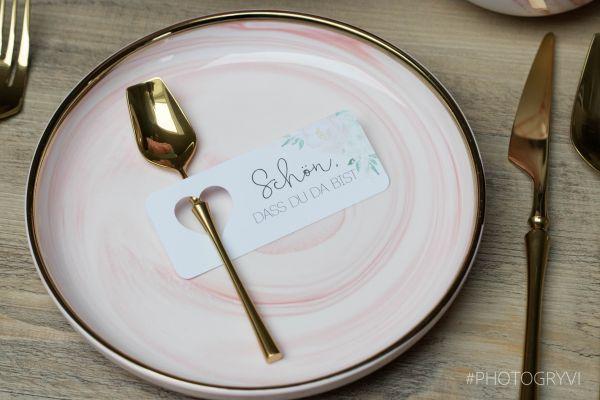 Anhänger für Hochzeit; Besteckhanhänger; Tischkarten