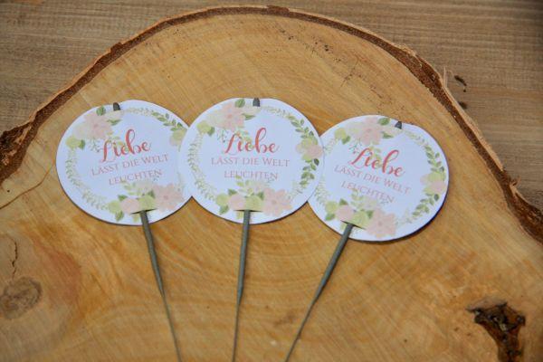 Wunderkerzen Label / Etiketten Hochzeit