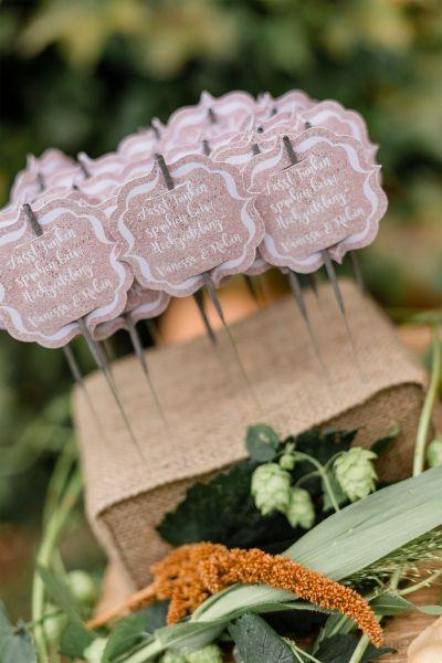 Steckkissen für Wunderkerzen Vintage Hochzeit