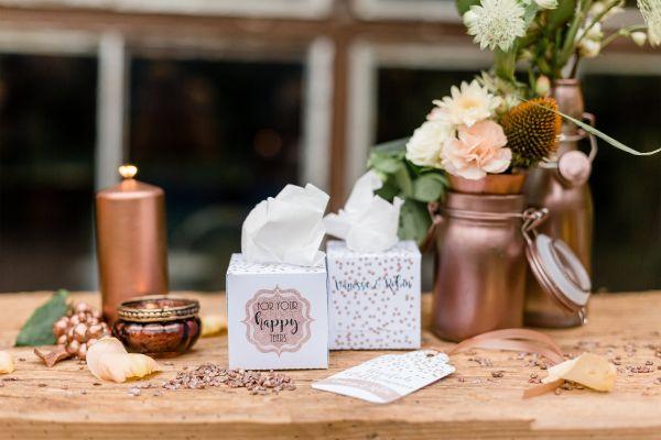 Freudentränen Box Hochzeit personalisiert DIY